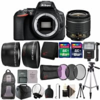 Nikon D5600 24.2mp Dslr Camera With 18-55mm Lens And 24gb Accessory Bundle - 1