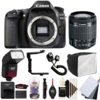Canon Eos 80d Dslr Camera With 18-55mm Lens , Ttl Speedlite Flash And Accessory Bundle - 1
