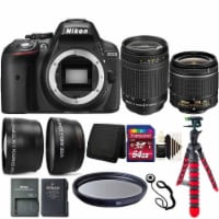 Nikon D5300 24.2mp Digital Slr Camera With 18-55mm Vr Lens , 70-300mm Lens And Accessory Kit