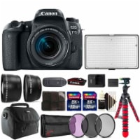 Canon Eos 77d 24.2mp Dslr Camera With 18-55mm Lens ,288 Led Video Light And Accessory Kit - 1