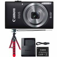 Canon Ixus 185 / Elph 180 20mp Digital Camera Black With Flexible Tripod - 1