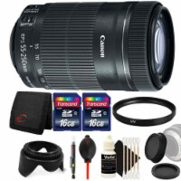 Canon Ef-s 55-250mm F/4-5.6 Is Stm Lens With Accessory Bundle For Canon T6s , T6 And T6i - 1