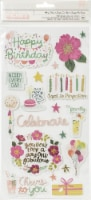 And Many More Thickers Stickers 42/Pkg-Party Time Phrase/Foam & Chipboard - 1