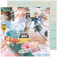 """Heidi Swapp Care Free Double-Sided Cardstock 12""""X12""""-High Tide - 1"""