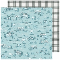 """Maggie Holmes Garden Party Double-Sided Cardstock 12""""X12""""-Gingham Grove - 1"""