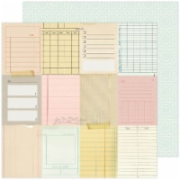 """Maggie Holmes Garden Party Double-Sided Cardstock 12""""X12""""-Taking Notes - 1"""
