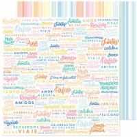 """Obed Marshall Buenos Dias Double-Sided Cardstock 12""""X12""""-Celebrates - 1"""