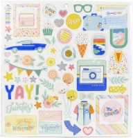 Obed Marshall Buenos Dias Chipboard Stickers 12 X12 -Icons & Phrase - 1