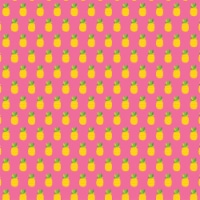 """American Crafts Patterned Single-Sided Cardstock 12""""X12""""-Pineapple Crush - 1"""