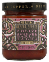 Desert Pepper Two Olive Roasted Garlic Salsa