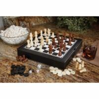 Mainstreet Classics Chess - Checkers - Backgammon with Chessmen Storage - 1