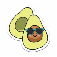 MightySkins D-DC-3-99888 Cool Avocado 3 in. Laptop Sticker Decal Cute Stylish Funny Cartoon D