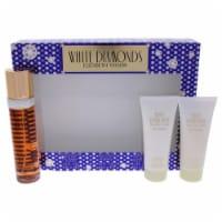 Elizabeth Taylor White Diamonds 3.3oz EDT Spray, 3.3oz body lotion, 3.3oz body wash 3 pc Gift