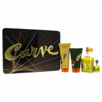 Liz Claiborne Curve 4.2oz Cologne Spray, 0.25oz Cologne Splash, 3.4oz After Shave Balm, 2.5oz