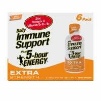 5-Hour Energy Ultra Orange Extra Strength Daily Immune Support Supplement - 6 bottles / 1.93 fl oz