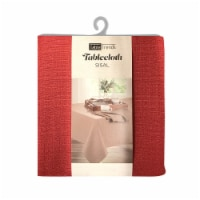 Arlee Home Fashions Table Trends Sisal Round Tablecloth - Red