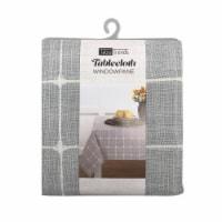 Arlee Home Fashions TableTrends Windowpane Plaid Tablecloth - Grey/White