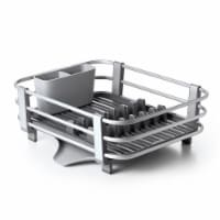 Oxo Good Grips Large Aluminum Kitchen Sink Dish Rack Drying Tray Drainer, Gray - 1 Unit