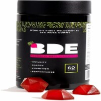 Wildcrafted Sea Moss Gummy by BDE - Beets, Vitamin D + E - 60 Count