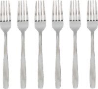 Cambridge® Paulina Satin Dinner Forks - Silver
