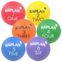 Kaplan Early Learning Colored Playground Balls  - Set of 6 - 1