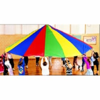 Martin Sports 19' Rainbow Parachute with 16 Handles - 1