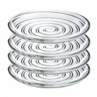 Lorren Home Trends 260500 7 in. 4 Piece DO Fruit & Salad Plates