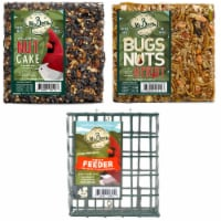 Home & Garden Small Cakes & Cage Starter S/3. No Mess Bugs Nuts Fruit Bird 801*410*110 - 1