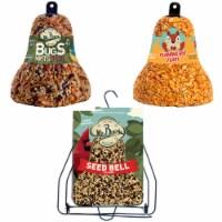 Home & Garden Bell Starter Set W/ Hanger S/3 Seed Flaming Hot Bug Nut Fruit 212*412*805 Set/3 - 1