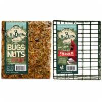 Home & Garden Bug Nut Fruit Cake & Cage Set/2 No Mess Melt Wild Bird 804*440 Set/2 - 1