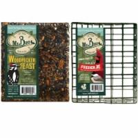 Home & Garden Woodpecker Feast Cake & Cage Set/2 No Mess Melt Wild Bird 804*940 Set/2 - 1