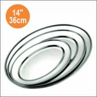 Star Dist 2362 14 in. Stainless Steel Oval Tray