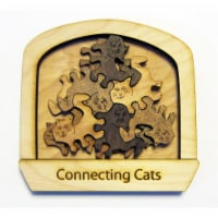 Palmetto Puzzle Works CC Difficulty Easy Level Connecting Cats Puzzle