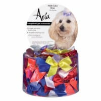 Aria DT162 99 Aria 5/8 In Multi-Color Bows Canister 100/Pcs