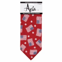 Aria Red/White/Blue Paws N Stripes Forever Bandana - Case Of: 1;