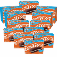 Drake's Devil Dogs, 12 Boxes of Creme Filled Devil's Cakes, Full Case - 96