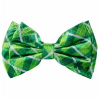 Ampro St. Patrick's Day Plaid Bow - Green