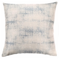 Coban Contemporary Decorative Feather and Down Throw Pillow In Sea Foam Jacquard Fabric - 1