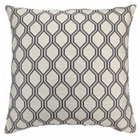 Andante Contemporary Decorative Feather and Down Throw Pillow In Cobalt Jacquard Fabric - 1