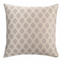 Andante Contemporary Decorative Feather and Down Throw Pillow In Dove Jacquard Fabric - 1