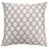 Andante Contemporary Decorative Feather and Down Throw Pillow In Birch Jacquard Fabric - 1