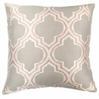Aria Contemporary Decorative Feather and Down Throw Pillow In Dove Jacquard Fabric - 1