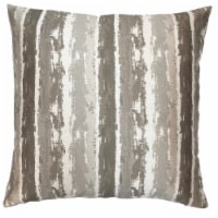 Murray Contemporary Decorative Feather and Down Throw Pillow In Stone Jacquard Fabric - 1