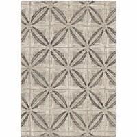 Daisy Contemporary 8x10 Area Rug in Grey/Cream - 1