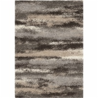 Brookfield Contemporary 5x8 Area Rug in Charcoal/Beige - 1