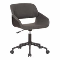 Lowell Mid-Century Gray Faux Leather Task Chair - 1