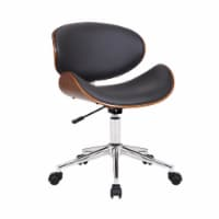 Daphne Faux Leather Office Chair In Gray - 1