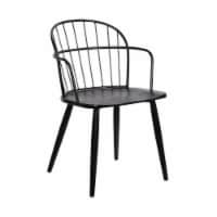 Bradley Steel Framed Dining Room Chair in Black - 1