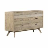 Baly Acacia Mid-Century 6 Drawer Dresser - 1