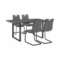 Fenton and Gray Pacific 5 Piece Modern Rectangular Dining Set - 1